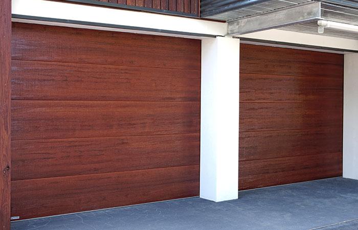timber look garage door